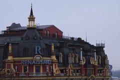 Eautiful rocznika budynek w renesansu stylu Hotelowego ` Kyiv Renesansowy ` Obraz Royalty Free