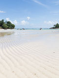 Eautiful sea beach landscape with the tide Stock Photography