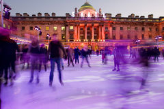 Eautiful Somerset house ice rink royalty free stock image