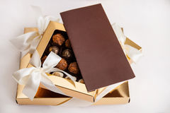 Eautiful sweets in the gift box Stock Photo