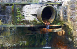 eaux d'égout de pipe Photo stock