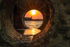 Eaux d'égout Dili Images stock