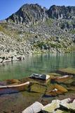 Eaux propres de lac Argirovo, Pirin, Bulgarie Images stock
