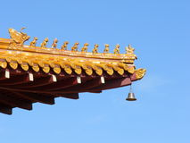 Eave. Chinese temple eave royalty free stock photo