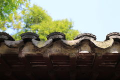 Eave of an antique biuld Royalty Free Stock Photography