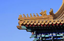 Eave of the Chinese ancient building Stock Photos