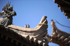 Eave of the Chinese ancient building. It was built on the Ming Dynasty of China Stock Image