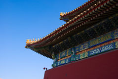 The eave corner of Tai He Hall royalty free stock images