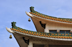 Eave detail van Chinese oude stijlarchitectuur Royalty-vrije Stock Foto's