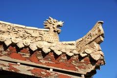 Eave di costruzione antica cinese Fotografia Stock