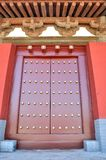 Eave and door in Chinese traditional style Stock Photos