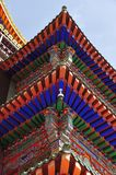 Eave of Ta'er Lamasery. In Qinghai of China Royalty Free Stock Images