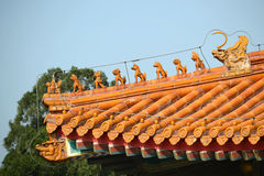 Eaves of ancient building Royalty Free Stock Photos