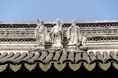 The eaves of ancient buildings Royalty Free Stock Photo