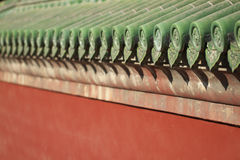 Eaves of Chinese traditional architecture. Eaves of traditional architecture of China Stock Photos
