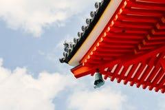 Eaves del tempio di Kiyomizu-dera a Kyoto, Giappone fotografie stock