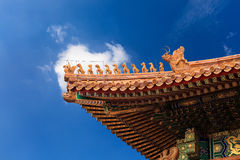 The eaves in the forbidden city Stock Images
