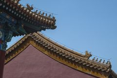 Eaves in The forbidden city Royalty Free Stock Images