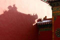 Eaves in Forbidden City and Snow Royalty Free Stock Photography