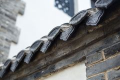 Eaves tiles in China Royalty Free Stock Photo