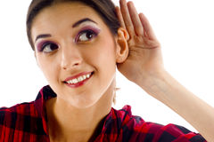 Eavesdropping Royalty Free Stock Images