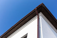 Eavestrough with gutter system Stock Photography