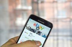 Ebay κινητό app Στοκ φωτογραφία με δικαίωμα ελεύθερης χρήσης