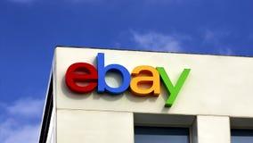 Ebay företags högkvartertecken arkivfilmer