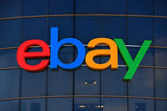 Ebay logo. Ebay is an American multinational corporation and e-commerce company, providing consumer-to-consumer and business-to-consumer sales services via the Royalty Free Stock Image
