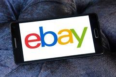 Ebay logo. Ebay application logo and vector on samsung mobile phone a5 Royalty Free Stock Photo