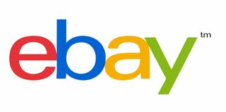Ebay logo. Type on white background. Vector trace from photo royalty free illustration