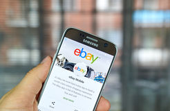 Ebay mobile app. MONTREAL, CANADA - August 8, 2016 - Ebay mobile app on S7. Ebay is an American multinational corporation and e-commerce company, providing Royalty Free Stock Photography