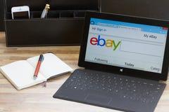 Ebay-onderzoekspagina Royalty-vrije Stock Foto
