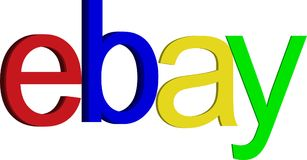 Ebay Icon. Ebay online buying and selling royalty free illustration
