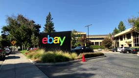 Ebay Outdoor Logo At Company Headquarters In Silicone Valley Stock Footage Video Of American Internet 137335314