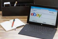 Ebay search page Royalty Free Stock Photo