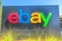 Ebay undertecknar Silicon Valley arkivfoton
