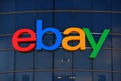Ebay Zeichen lizenzfreies stockbild