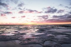 Ebb in baltic sea Royalty Free Stock Photography