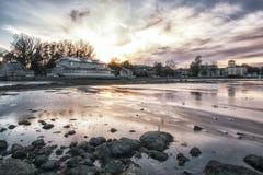 Ebb in baltic sea Stock Photos
