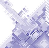 EBB FLOW BLUE SQUARE. An abstract image used to reflect the industrial side of todays community royalty free illustration
