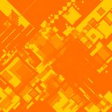 Ebb flow orange square random. AN abstract image with the use of random orange squares stock illustration