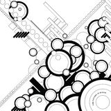 Ebb flow outlined. A circular background design with a modern twist vector illustration