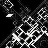 Ebb flow outlined square neg. An abstract image that is mainly made up of square shapes royalty free illustration