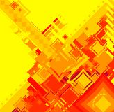 Ebb flow red square. An abstract image used to reflect the industrial side of todays community vector illustration