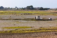 Ebb Landscape in Western Brittany Royalty Free Stock Photography