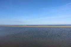 Ebb at the north sea Royalty Free Stock Image