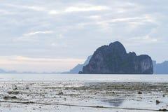 Ebb tide beach Stock Image