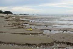 Ebb tide at hua-hin beach Royalty Free Stock Photography