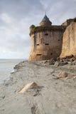 Ebbe an der Abtei von Mont Saint Michel, Frankreich Lizenzfreie Stockfotografie